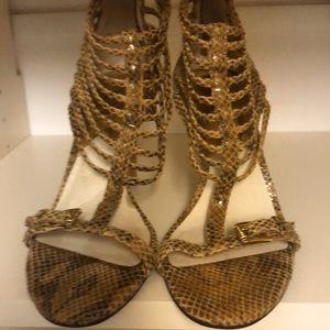 Snakeskin Gladiator Heels